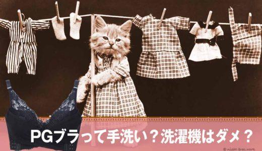 PGブラは手洗いしなきゃダメ?洗濯機で洗うとどうなる?